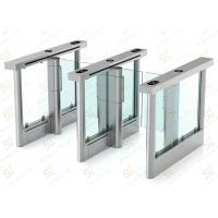 Buy cheap Security Barrier Turnstile Gate Speed / Glass Wing Turnstile Entry Systems Servo Driver from wholesalers