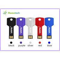 Buy cheap Aluminium alloy Key Usb Memory Stick , Silver Waterproof Memory Key pendrive from wholesalers