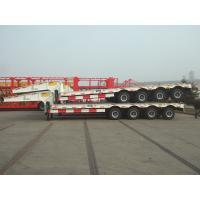 Buy cheap 80ton low-bed trailer price China semi trailer factory low loader semi trailer truck from wholesalers