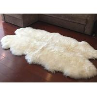 Buy cheap Real Sheepskin Rug Large Ivory White Australia Wool Area Rug 4 x 6 ft 4 Pelt from wholesalers