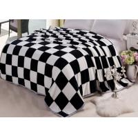 Buy cheap Big size coral fleece bed sets cover with grid printed , life comfort fleece sheet set from wholesalers