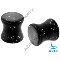 Buy cheap UV Glitter 3mm , 4mm , 5mm Stone Ear Plugs Jewelry , Anodized Titanium from wholesalers