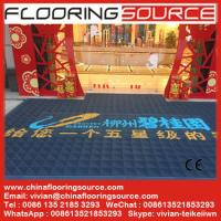 Buy cheap Heavy duty entrance logo mat EVA base nylon brush sweep dirt scrape snow drain rain water from wholesalers