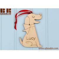 Buy cheap Dog Wooden Christmas Ornament: Personalized Name, Pet, Puppy, Kids from wholesalers