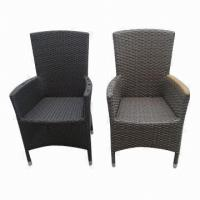 Buy cheap Outdoor Furniture, Beautiful Rattan Armchair with Sugar Cane Leaf Rattan and Teak Armrests from wholesalers