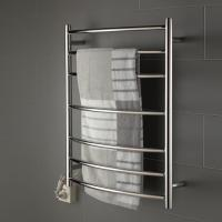 Buy cheap 7 bars round arc type stainless steel wall mounted pratical safety heated towel rack from wholesalers