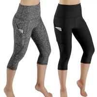 Buy cheap Fashion Sport Leggings Calf Length Pants Polyester Workout Out Pocket Leggings from wholesalers