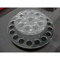 Buy cheap Round acrylic lipstick display holder with holes / acrylic display shelves from wholesalers