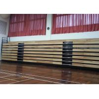 Buy cheap Motorized Retractable Gym Seating Wooden Bench For Multi - Functional Hall from wholesalers