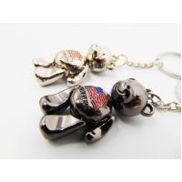 Buy cheap Girls Gifts Aluminum Alloy Metal Souvenir , Metal Teddy Bear Keyring For Ornaments from wholesalers