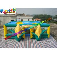 Buy cheap Green  Inflatable Sports Games  ,Yellow 0.55mm PVC Tarpaulin Inflatable Corn Maze from wholesalers
