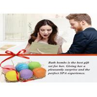 Buy cheap Organic Essential Oil Salt Body Bubble Bath Bombs Relieves Fatigue For Shower from wholesalers