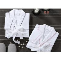 Buy cheap Customized Hotel Style Bathrobes Waffle Spa Robes 100% Cotton Material from wholesalers