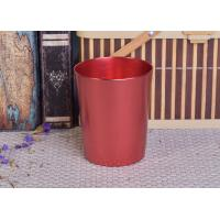 Buy cheap Decoration Red Copper V Shaped Cup Metal Candle Jar Tin Candle Containers from wholesalers