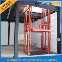 Buy cheap 2.5 Tons Guide Rail Hydraulic Elevator Lift for Warehouse Cargo Loading CE from wholesalers
