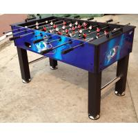 China Multicolor 5 Feet Soccer Game Table Comfortable Wooden Foosball Table For Kicker Match on sale