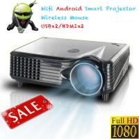 Buy cheap Professional Good quality LCD LED video projector Android HDMI USB SD for 3D Home Cinema from wholesalers
