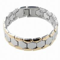 Buy cheap Bracelet with Magnet, Can be Made of Stainless Steel or Titanium product