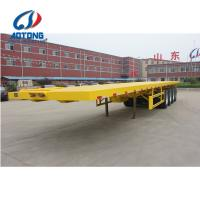 Buy cheap Quality Flat bed semi trailer 4 axles laoding 80tons for container and cargo from wholesalers