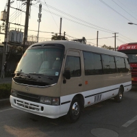 Buy cheap 2016 Cheap Japanese origin Used Toyota Coaster mini bus diesel 30 seats used small luxury tour passenger bus for sale from wholesalers