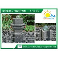 Buy cheap Glass Rolling Ball Small Garden Water Features , Different Shape Granite Ball Fountain from wholesalers