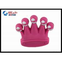 Buy cheap Pink Crown Kids Bedroom Dresser  Knobs  Decoration For Girls Wardrobe Handles Soft Plastic Handles from wholesalers