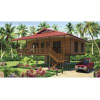 Buy cheap Light Steel Frame Wooden Home Beach Bungalows With Shower , Kitchen from wholesalers