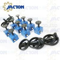 Buy cheap JACTON Type SJ lift China JACTON SJ10 industrial electric worm screw jack from wholesalers