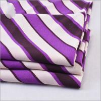 Buy cheap Twist Yarn 94% Polyester 6% Lycra Printed Stripe ITY Jersey Fabric from wholesalers