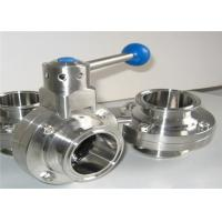 Buy cheap Sanitary Inox 304 316 Heavy Duty Butterfly Valves With Plastic Handle from wholesalers
