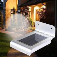 Buy cheap 16 LED outdoor light waterproof solar powered led wall light with sensor from wholesalers