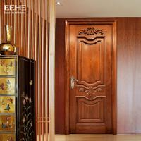 Buy cheap Safety Residential Solid Hardwood Internal Doors With Handmade Carved Flowers from wholesalers