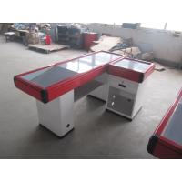 Buy cheap Red Aluminum Bumper Cash Counter Table , Simple Retail Checkout Counter from wholesalers