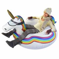 Buy cheap 0.6mm PVC Kids Adult Heavy Duty Inflatable Unicorn / Winter Sledding Snow Tube from wholesalers