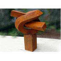Creative Modern Public Rusted Corten Steel Sculpture For Commercial
