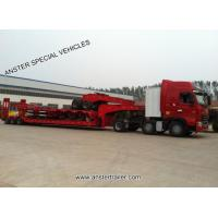 Buy cheap 80 70 60 t 2 3 4 Muti Axles Lowboy Low Bed Trailer with Air Pneumatic Suspension and material Q345 from wholesalers