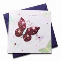 Buy cheap Greeting Cards with Four Color Offset Printing, Customized Designs and Sizes are Welcome from wholesalers