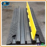Buy cheap Yellow Jacket Rubber Cable Protector Ramp / Cable Cover / Cable Tray 2 Channel from wholesalers