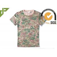 Buy cheap CP Camouflage Tactical T Shirts Military Style For Outdoor Combating from wholesalers