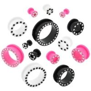 China Jewelry UV screw on flesh tunnel piercings,flesh tunnel body jewelry,ear plugs piercing,era gauge on sale