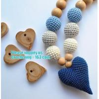 Buy cheap Baby sling necklace, baby bracelet, crochet bracelet, teething bracelet, crochet long funky beaded necklace from wholesalers