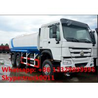 Buy cheap SINO TRUK HOWO 6*4 LHD/RHD 20,000L carbon steel water truck for sale, HOWO 336hp 20m3 water truck for drinkling water from wholesalers