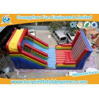 Buy cheap Slide And Castle Sticky Wall Combination Inflatable Sport Games For Kid And Adult from wholesalers