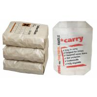 Buy cheap Custom Printed Block Bottom Valve Bag , 50kg 25kg Cement Bag Eco Friendly from wholesalers