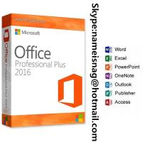 Buy cheap Sticker Paper Label Oringinal Software Office 2016 Pro Plus Key 32/64 Bite With Free Download coa sticker from wholesalers