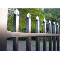 Buy cheap Diplomat Security steel Fence 1.2m*2.4m Tubing SHS38mm rails Yellow color from wholesalers