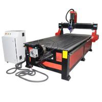 Buy cheap 4*8 Feet 4 Axis Wood CNC Router with Underneath Rotary Axis/Mach3 Control product