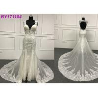 Buy cheap Lace Backless A Line Wedding Dress / Gorgeous Sweetheart A Line Wedding Dress from wholesalers