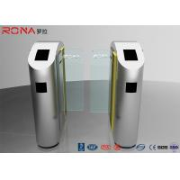 Buy cheap Security Turnstile Barrier Gate Automatic Sliding Type Tempered Glass Customized Color product