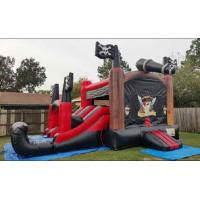 Buy cheap Customized Double Lane Pirate Inflatable Slide Jumping Bouncer Slide Combo from wholesalers